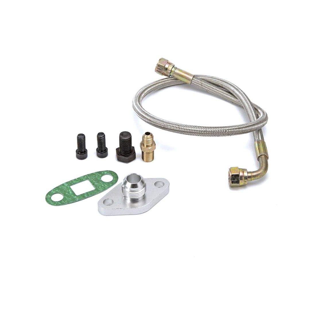 Uniwersalny zestaw spływu i zasilania oleju Single Turbo - GRUBYGARAGE - Sklep Tuningowy